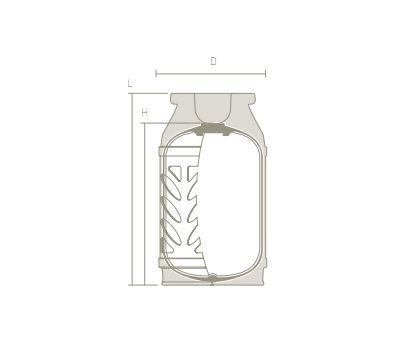 Безопасный газовый баллон Hexagon Ragasco LPG 12,5 л, фото 3