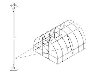 "Усилитель арки для теплиц ""Слава"", фото 2"