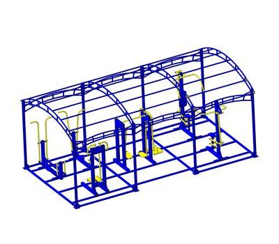 Навес для тренажеров 3х6х2,7 м, фото 1