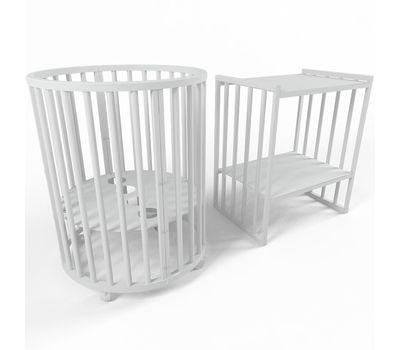 Овальная кроватка из массива бука Dreams Стандарт 8-в-1, фото 13