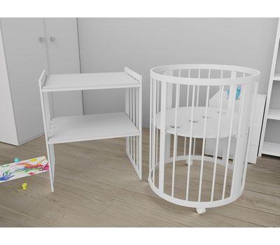 Овальная кроватка из массива бука Dreams Стандарт 8-в-1, фото 4